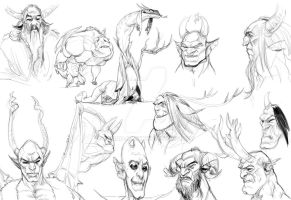 sketches for devils by ahmad-nady
