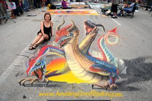Me and My Dragons by AmazingStreetPaint