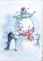 snowman by Marcelo-Ilustra