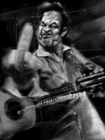 Johnny Cash by simonhayag