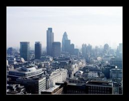 London: The City - skyline by Choogster-Postcards