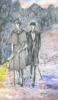 Sherlock Holmes and doctor Watson (fragment) by Ephaistien