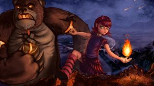 Annie and Tibbers [League of Legends] by pskibobby