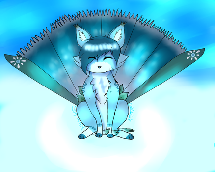 Spring frost flower FoxFan CE (Contest Entry) by CookiexCat7