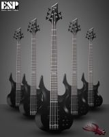ESP bass guitar F-205 by graphomet