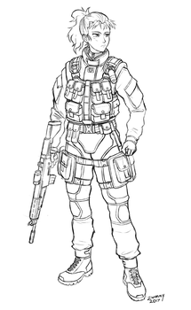 soldier sketch by zwimmy