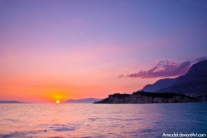 Adriatic Sunset II by amrodel