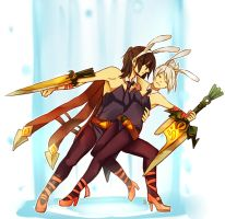 Dragonblade Riven and Talon 2 by Yosukii on DeviantArt