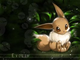 Eevee Wallpaper by lunasnightmare
