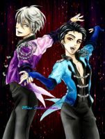 Victor And Yuuri - Gala Outfit by MissSebasuchan