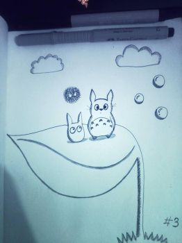 Totoro and his friends by deviruchii