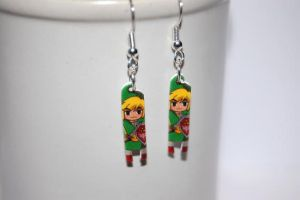 The Legend of Zelda Link earrings by knil-maloon