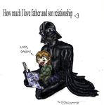 Darth Vader and Luke by Barguest