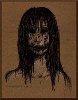 Portrait of Her Smile by AudInk