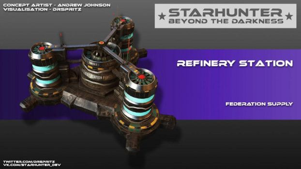 Asteroid refinery station! by Johnson-jsf