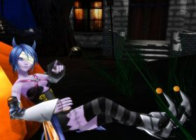 MMD Aqua Halloween town DL by 0-0-Alice-0-0