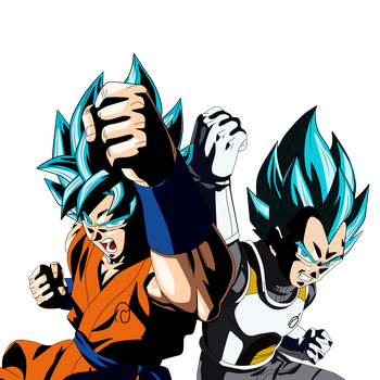 GOKU Y VEGETA DIOS by Supergoku37