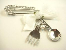 AfternoonTea l Silver Pin by SweetandCo