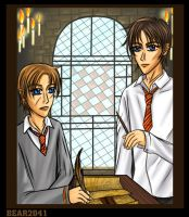 HP:Young Moony and Padfoot by BEAR2041