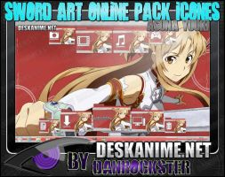 Asuna Yuuki Pack Icons by Danrockster
