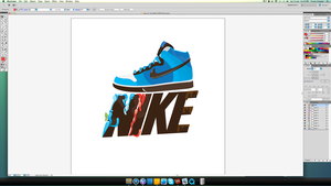my latest project - nike concept wallpaper advert by TraviiGFX