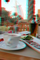 food with luxury view 3D stereo photo by amirajuli