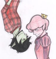 You're cute when you blush - coloured by ImHereForTheDrarry