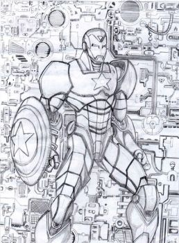 Iron Patriot BnW by Hafique84