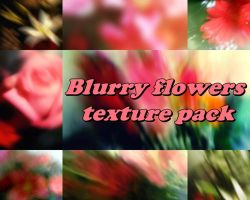 Blurry flowers texture pack by ale2xan2dra
