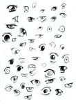 A bunch of anime eyes by kangel