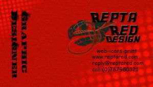 Repta Red business card by Theresa42J