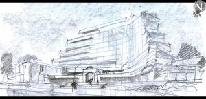 Architecture into facade. Sketch by VeIra-girl