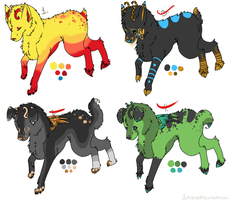 Canine derg adoptables 2 :closed: by Yumisnax