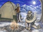 Chilly Campout by Anacita