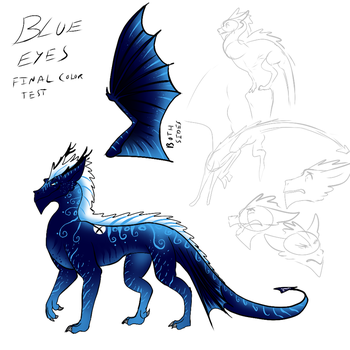 Blue's final design by CrystalCircle