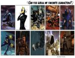 Favourite Characters from Games, Comics and Anime. by sarahbear79