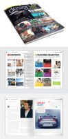 Magazine Template - InDesign 56 Page Layout V2 by BoxedCreative