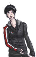 doodlin' Shepard at 5 A.M. by Asheh
