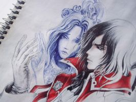 Castlevania LoS. Gabriel and Marie by Rhafiel