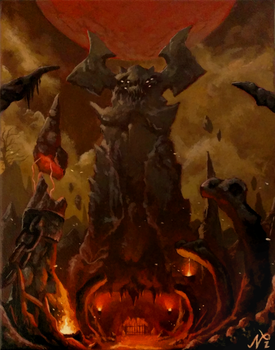 DOOM Kadingir Sanctum Painting by Xous54