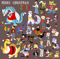 Christmas Sweater Extravaganza 2014! by spiffychicken