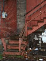 dirty stairs 1 by JensStockCollection