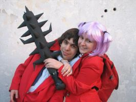 sakura kun and dokuro chan cosplay by ShidoFuyuki