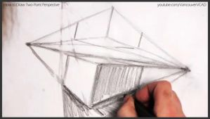 How to draw two point perspective 015 by drawingcourse