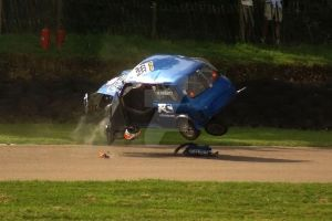 Nesbit rolls his Minicross car @ Lydden Hill by Petrol-Head-Images