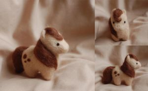 Fat pony needle felt by ChloeNArt