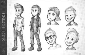 Pentatonix - PTX comic - Scott Hoying by Raelys-Fenrika