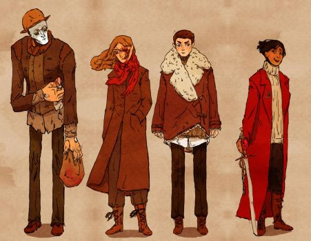 Mortal Engines Character Designs by hatthecat123