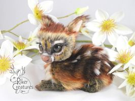 Teacup Fairy Fawn - Poseable Art Doll by RikerCreatures
