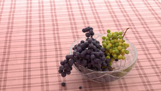 Picnic Grapes in a Bowl by bongupper